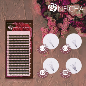 Neicha Bouquet of Rose Lashes MIX C krul