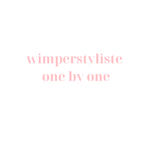 Wimperstyliste one by one.